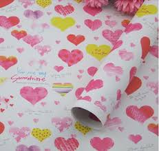 heart wrapping paper printed wax paper 3sheet roll heart designs for happy