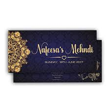 mehndi card navy royal muslim mehndi card diamond wedding cards