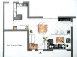 plan cuisine ouverte sur salon amenagement cuisine ouverte sur salon 10 plan salon salle 224