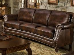leather sofa with nailheads creative of nailhead leather sofa with traditional top grain