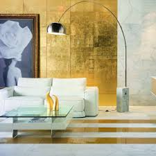Metallic Home Decor by Gold Leaf Metallic Finish Design Trends Living Room Hotel Lobby
