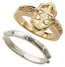 religious rings religious rings in rosary cross crucifix and purity styles