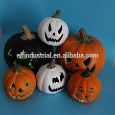 Wholesale Outdoor Halloween Decorations by China Craft Paty City Halloween Artificial White Light Up Pumpkins