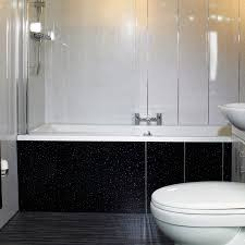 White Paneling For Bathroom Walls - black sparkle bathroom cladding direct