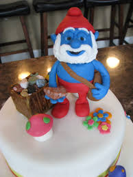 16th birthday papa smurf cake cakecentral