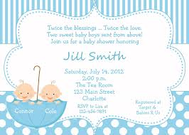 baby shower invitations twin baby shower invitations blue frame