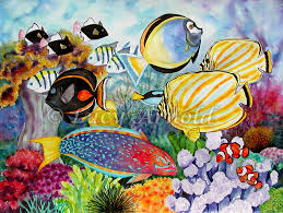 reef scene card fine art of lucy arnold