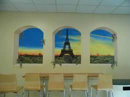 trompe l oeil mural project in a school canteen murals trompe l oeil mural project in a school canteen