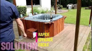 spa d exterieur bois jacuzzi contour habillage youtube