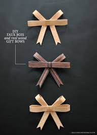 gift bow diy diy faux bois real wood gift bows creature comforts diy