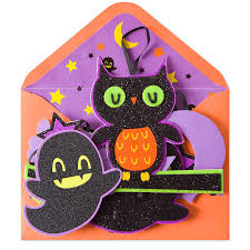 handmade spooky owls on branch halloween cards papyrus