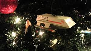 trek talking spock shuttle craft ornament