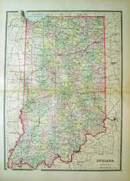 Map Of Ohio And Indiana by Prints Old U0026 Rare Indiana Page