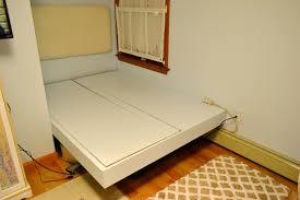 Diy Floating Bed Frame Seesaws And Sawhorses Diy Floating Platform Bed