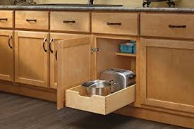 roll out shelves for existing cabinets amazon com rev a shelf 4wdb 15 medium wood base cabinet pull out