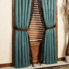 Turquoise Curtains For Living Room Brown And Turquoise Curtains Curtains Wall Decor