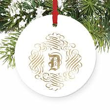 d monogram family name d initial ornaments wedding