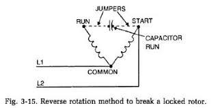 reverse rotation method to break locked rotor refrigerator