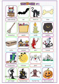 halloween picture dictionary 1 poon pinterest picture