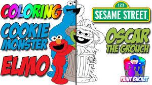 sesame street u0027s cookie monster elmo and oscar the grouch sesame