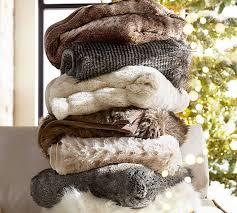 Faux Fur Comforter Set King Faux Fur Throw Pottery Barn