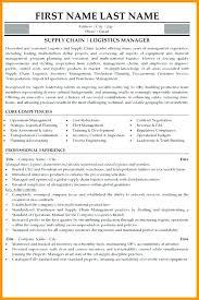 sample resume cover letter for logistics manager j manufacturing