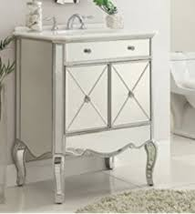 mirrored bathroom vanity cabinet 30 mirrored w silver trim bathroom sink vanity cabinet ashley
