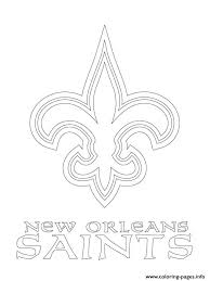 New Orleans Saints Logo Football Sport Coloring Pages Printable Saints Colouring Pages