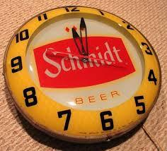 Liquor Signs Schmidt Beer Clock Bar Stuff Pinterest Schmidt Beer Beer