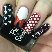a certain becca nails minnie mouse inspired nails