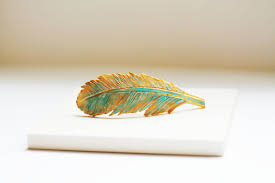 barrette clip feather hair clip feather barrette large hair barrette clip for