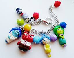 halloween charms inside out inspired charm bracelet fear sadness anger joy and