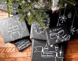 chalkboard wrapping paper tutorial christmas chalkboard gift wrap going home to roost