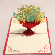 Invitation Cards Handmade - greeting cards handmade invitation 3d pop up card flower new