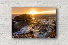big sur canvas pacific ocean canvas beach home decor california