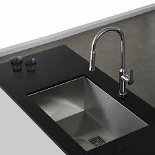 Kraus KHU Pax ZeroRadius    Gauge Handmade Undermount - Single undermount kitchen sinks