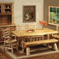 Log Dining Room Table Log Dining Room Furniture And Rustic Dining Sets