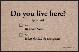 do you live here doormat funny doormats u2013 high cotton inc