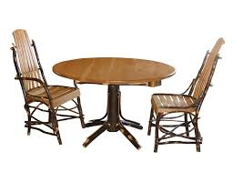 Hickory Dining Room Chairs Amish Rustic Hickory Round Single Pedestal Dining Table