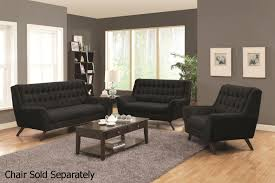 natalia black fabric sofa and loveseat set steal a sofa