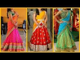 top 20 half saree designs 2017 traditional lehenga
