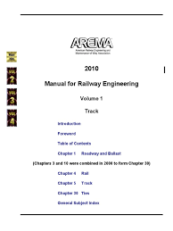 manual arema technology railway
