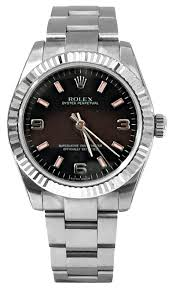 rolex white gold oyster bracelet images Rolex stainless steel white gold 31mm oyster perpetual black jpg
