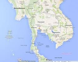Greek Map Thailand Map With Main Tourist Destinations And Links To Compact