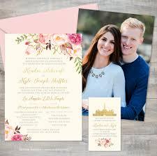 lds wedding invitations gold jeneze designs