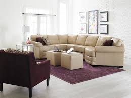 Plum Leather Sofa Furniture Leather Sectional With Cuddler Seat The
