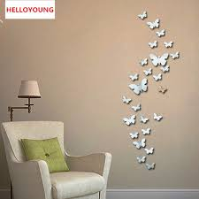 QT 0046 New 30pcs Decorative Vinyl 3d Butterfly Wall Decor Poster