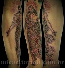 turbo tattoo sleeve jesus christ crucified tattoo on sleeve photo 2 photo