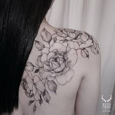 shoulder flower tattoos tattoo collections