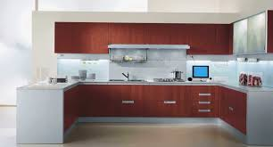 kitchen u shaped design ideas u shaped brown wooden kitchen cabinet with white top and bottom on